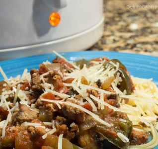 Crockpot Turkey Sausage & Peppers