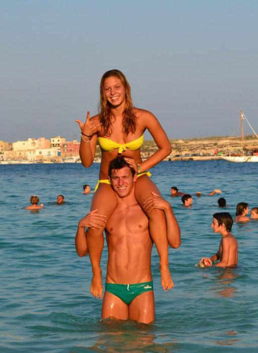 Couple in Speedo and Bikini