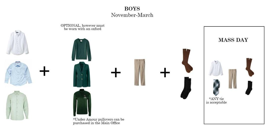 boys regular uniform bishop ludden winter - Uniform & Dress Code