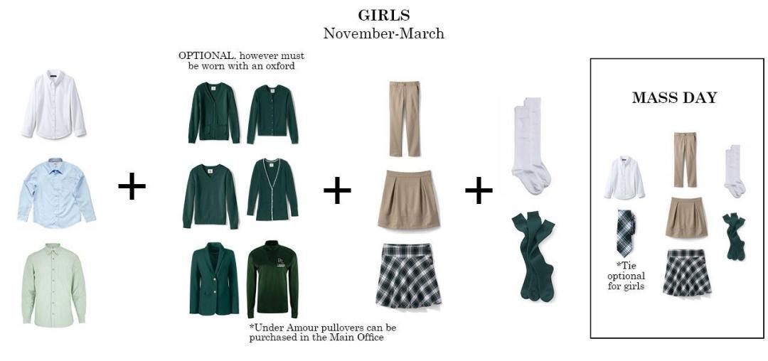 girls regular uniform bishop ludden winter - Uniform & Dress Code