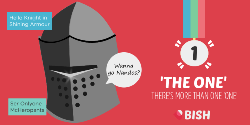 There are so many stories about 'The One' like the Knight in Shining Armour