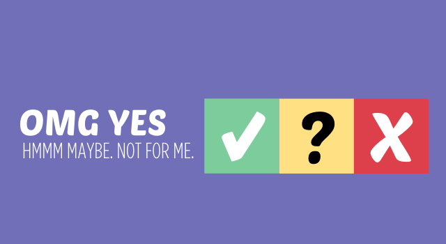 Maybe yes maybe no maybe sex were