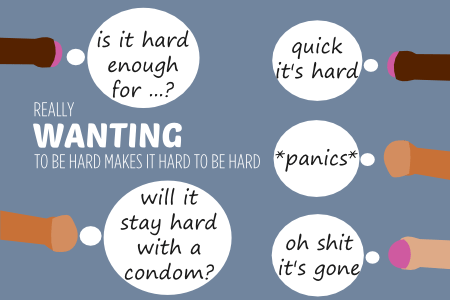 How really wanting a penis to be hard can make it hard to be hard