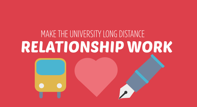 how to make the university long distance relationship work