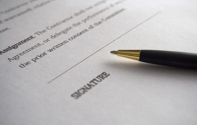 Wijziging contract