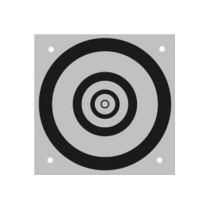 Cibles en aluminium –  noir / blanc – ø 95 mm