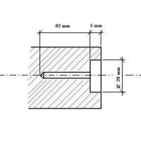 Mèche pour cheville courte de démarcation «CADASTRE» + «GRENZPUNKT»