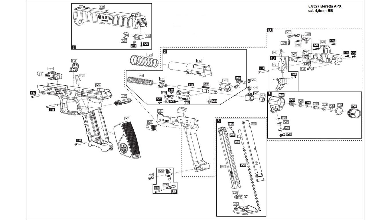 Beretta Apx Spare Parts