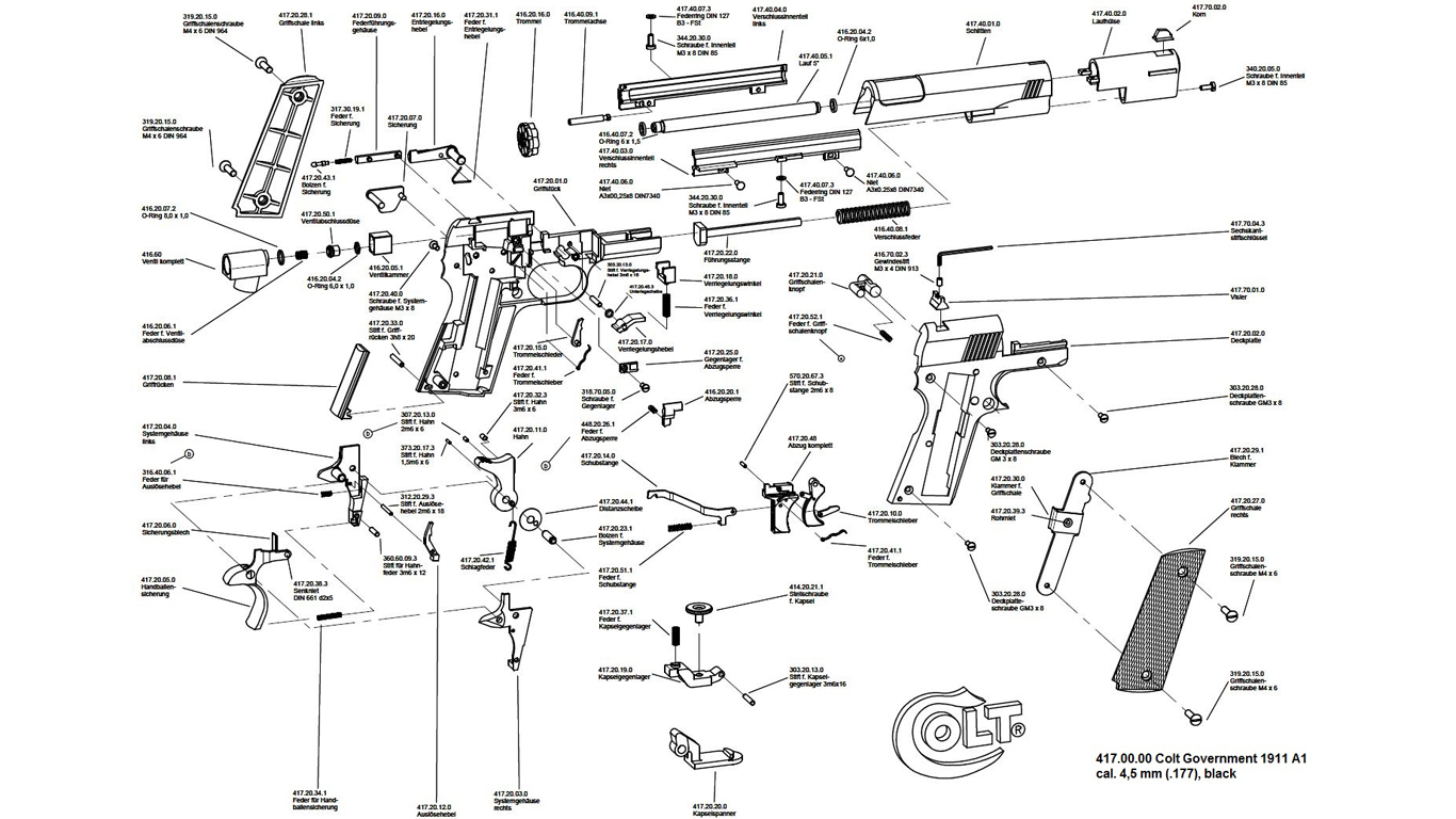 Colt Peacemaker Parts Schematic