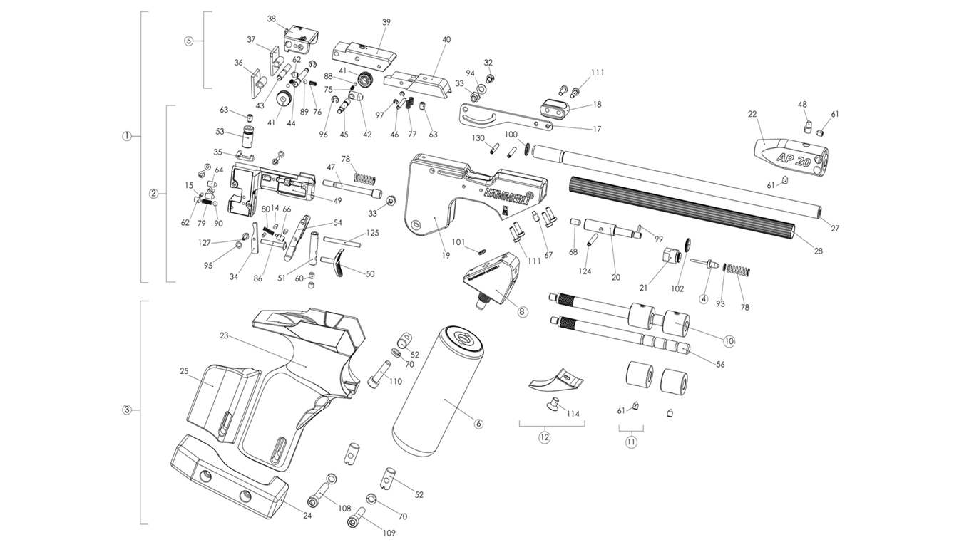 Hammerli Ap20 Spare Parts