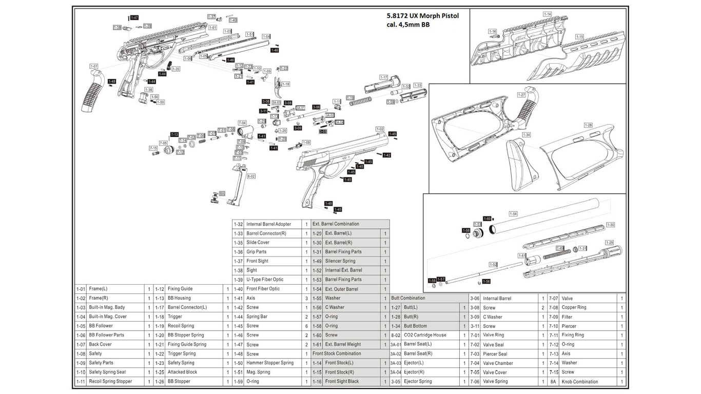 Umarex Spare Parts Waitting Co Steel Force Disassembly Diagram