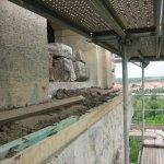 Sanierungsarbeiten Bismarckturm Weißenfels 2007 - Turmkuppel außen