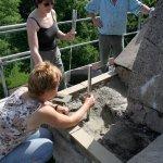 Sanierungsarbeiten Bismarckturm Weißenfels 2007 - Turmkuppel 2