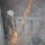 Sanierungsarbeiten Bismarckturm Weißenfels 2008 - Innentreppe 2