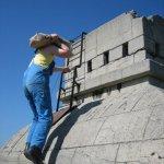 Sanierungsarbeiten Bismarckturm Weißenfels 2007 - Turmkuppel