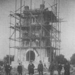 Bismarckturm im Bau (1904-1907)