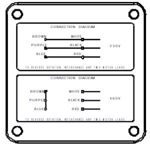 PowerSTAR 725 Series Right Angle Hypoid Gearmotor 3PH 230400 460V3 Inverter Duty