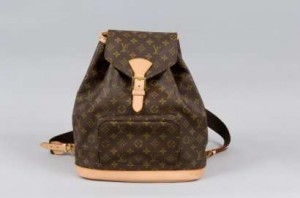 sac à dos en cuir Montsouris Louis Vuitton
