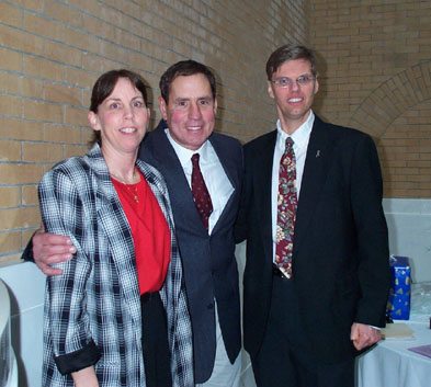 Cindy and Rich with Bob Lobel, WBZ TV