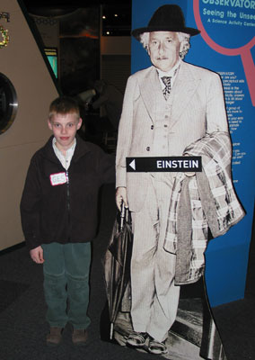 Aaron Appeared In A Commercial For The Einstein Exhibit At Bostons Museum Of Science March 2004