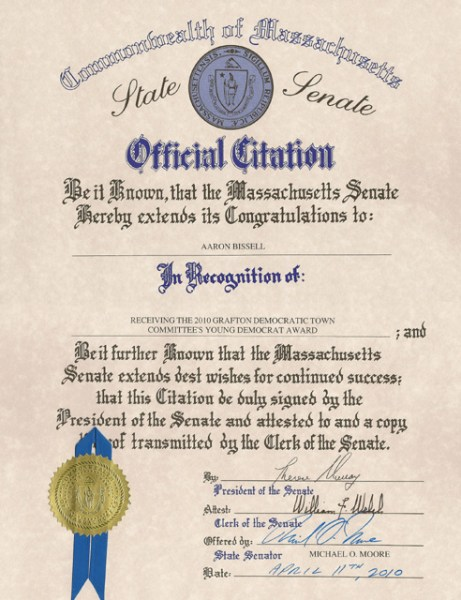 State Senate Citation