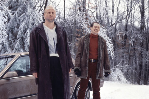 Peter Stormare, left, and Steve Buscemi in a scene from FARGO, 1996.