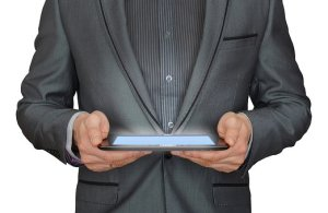 holding tablet