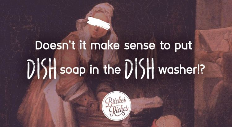 Doesn't it make sense to put DISH soap in the DISH washer!?