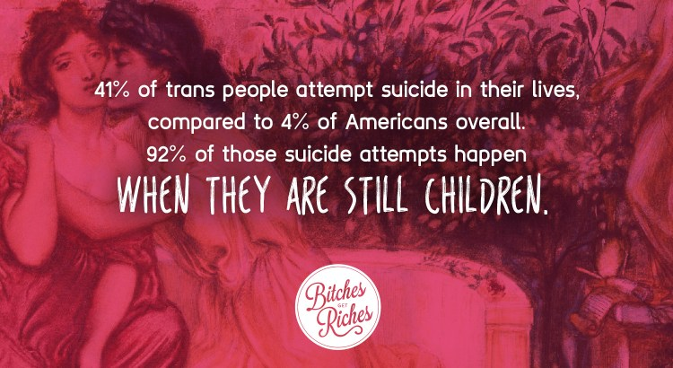 41% of trans people attempt suicide in their lives.