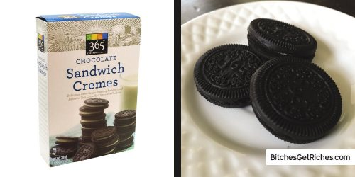 365 Chocolate Sandwich Cremes ($0.14/oz)
