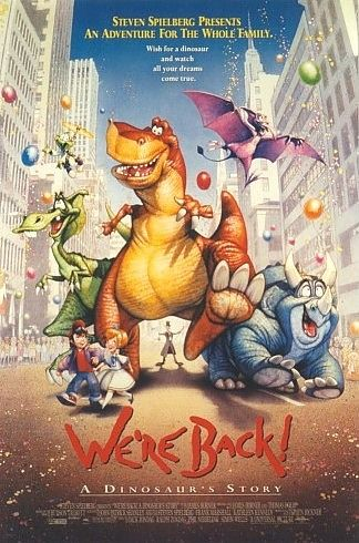 Movie poster for We're Back: A Dinosaur's Story