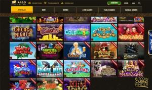 Argo Casino screenshot - Bitcoin Casino Finder
