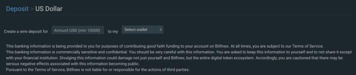 Bitfinex Introduces Top Secret Banking System