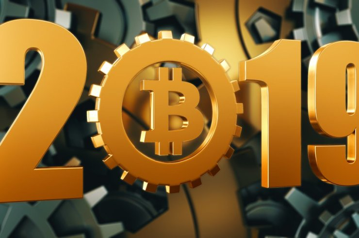 Welcome 2019 Bitcoin to the moon 1
