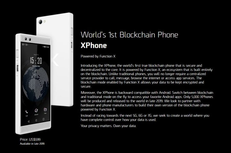 XPhone World's 1st Blockchain Phone has arrived at MWC19 Barcelona 1