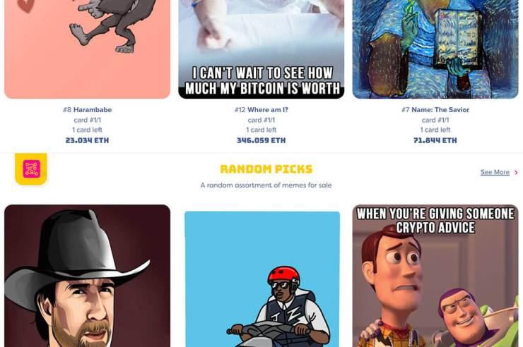 New Ethereum-based digital collectibles market Meme Factory goes live 1