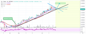Zilliqa [ZIL]Price Analysis: Zilliqa Still Following Steady Uptrend, Trading In A Triangle Above Support 2