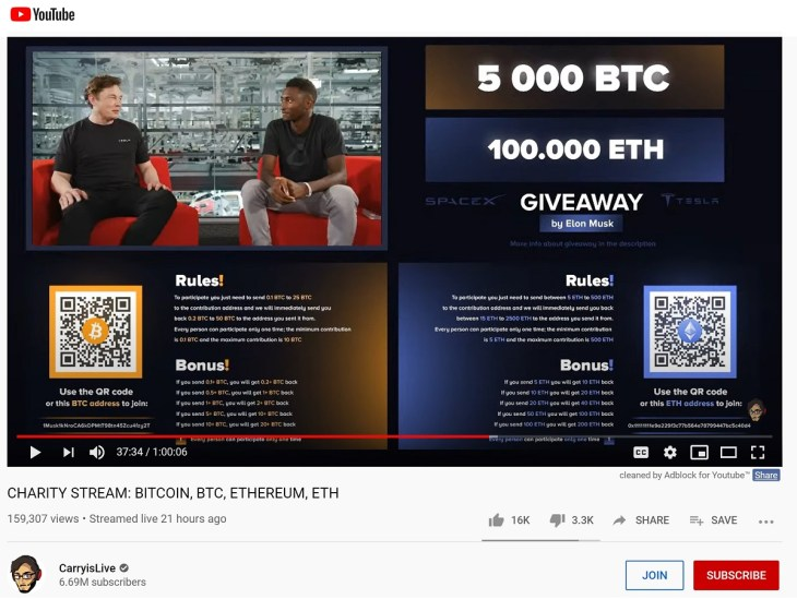 Popular Indian Youtube Channel Hacked to Promote Bitcoin Giveaway Scam 2