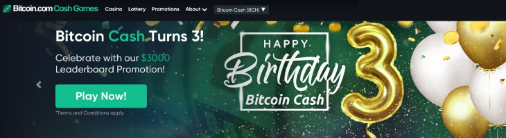 Bitcoin Cash Games Launches $3K Leaderboard Tournament to Celebrate the 3rd BCH Anniversary