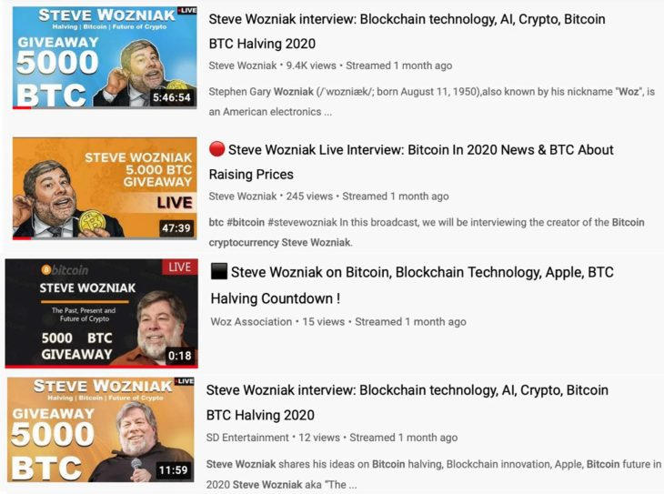 Steve Wozniak Sues Youtube, Google for Promoting Bitcoin Giveaway Scam — Youtube Denies Fault