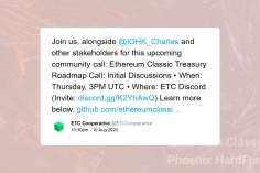 Ethereum Classic Not Keen on Hoskinson's Treasury Proposal 10