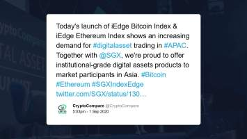 Singapore Exchange to Bring Regulated Bitcoin and Ethereum Cryptocurrency Indices to Asia 3
