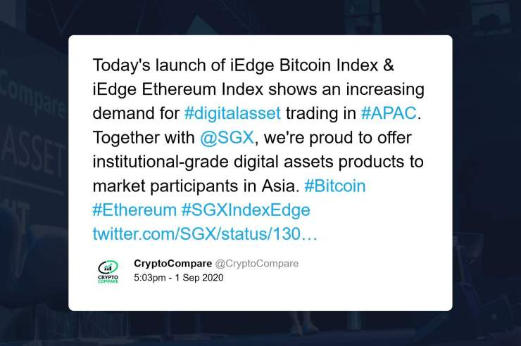 Singapore Exchange to Bring Regulated Bitcoin and Ethereum Cryptocurrency Indices to Asia 1