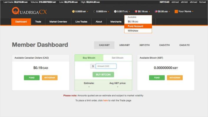 QuadrigaCX - Bitcoin Trading Platform Review 1
