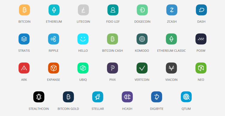 altcoins supported by ledger nano