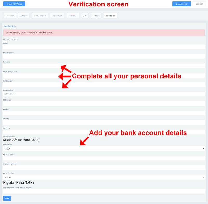 Verify account