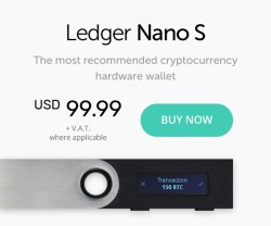 Ledger Nano S crypto wallet