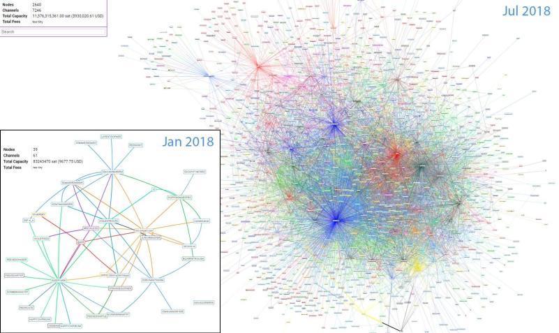 Lightning network nodes