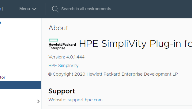 How-To: install the HPE Simplivity 380 vCenter Plug-in