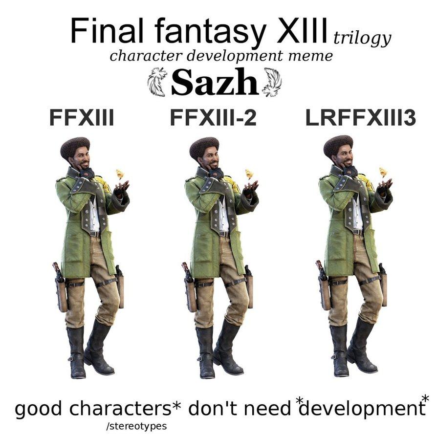 ffxiii_character_development_meme_sazh_by_primavistax-d7z9adb